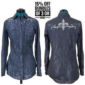 Ariat Western riding pearl snap button down shirt